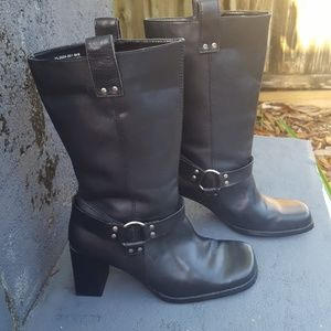 Spiegel leather biker boots
